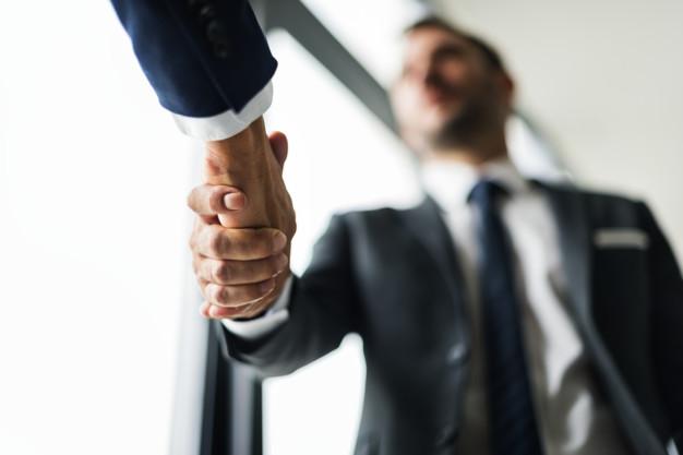 Handshake Business Men Concept